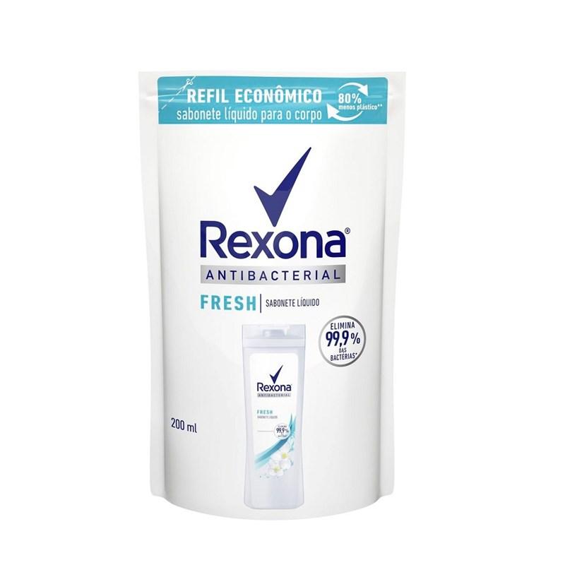 Sabonete Líquido Rexona Refil Antibacterial 200 ml Fresh
