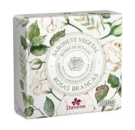 Sabonete Vegetal Davene 200 gr Rosas Brancas
