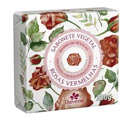 Sabonete Vegetal Davene 200 gr Rosas Vermelhas