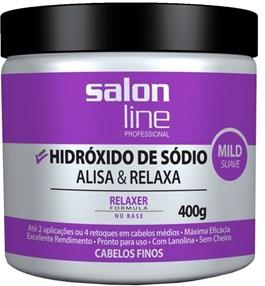 Salon Line Hidróxido de Sódio Tradicional 400 gr Mild Cabelos Finos