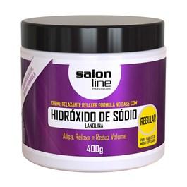 Salon Line Hidroxido de Sodio Tradicional 400 gr Regular Cabelos Medios