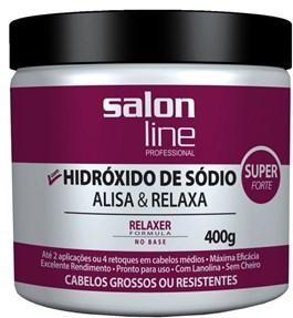 Salon Line Hidróxido de Sódio Tradicional 400 gr Super Cabelos Grossos ou Resistentes