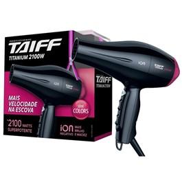 Secador de Cabelo Taiff Titanium Série Colors Pink 2100W 110v