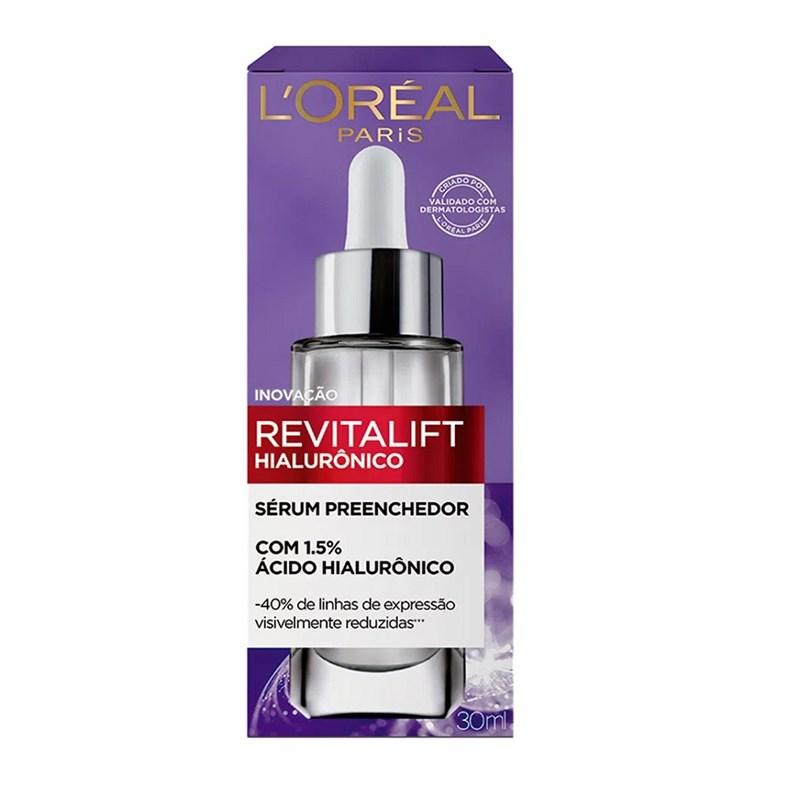 Sérum Facial Preenchedor Anti-idade L'Oreal Paris Revitalift 30 ml Hialurônico
