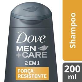 Shampoo 2 Em 1 Dove Men Care 200 ml Força Resistente