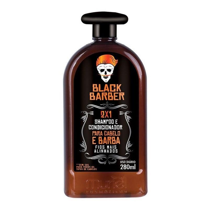 Shampoo 2x1 para Cabelo e Barba Black Barber 280 ml