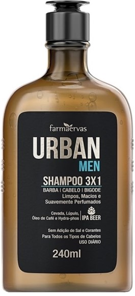 Shampoo 3x1 Urban Men 240ml