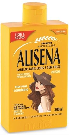Shampoo Alisena Amido de Milho 300 ml Lisos e Soltos