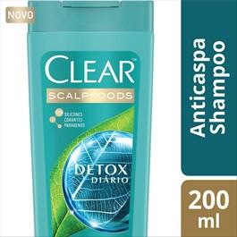 Shampoo Anti-Caspa Clear 200 ml Detox Diário