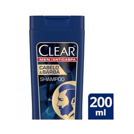 Shampoo Anticaspa Clear Men 200 ml Cabelo & Barba