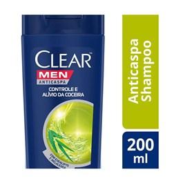 Shampoo Anticaspa Clear Men 200 ml Controle e Alívio da Coceira