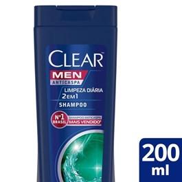 Shampoo Anticaspa Clear Men 200 ml Limpeza Diária 2 em 1