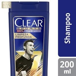 Shampoo Anticaspa Clear Men 200 ml Limpeza Profunda