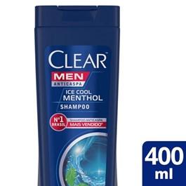 Shampoo Anticaspa Clear Men 400 ml Ice Cool Menthol