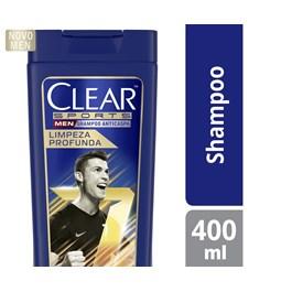 Shampoo Anticaspa Clear Men 400 ml Limpeza Profunda