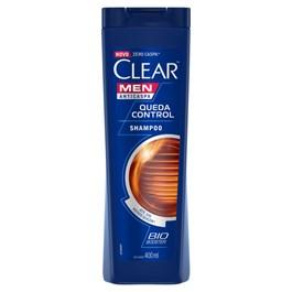 Shampoo Anticaspa Clear Men 400 ml Queda Control