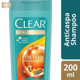 Shampoo Anticaspa Clear Women 200 ml Detox Antipoluição