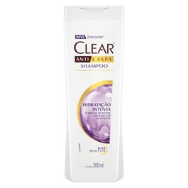 Shampoo Anticaspa Clear Women 200 ml Hidratação Intensa