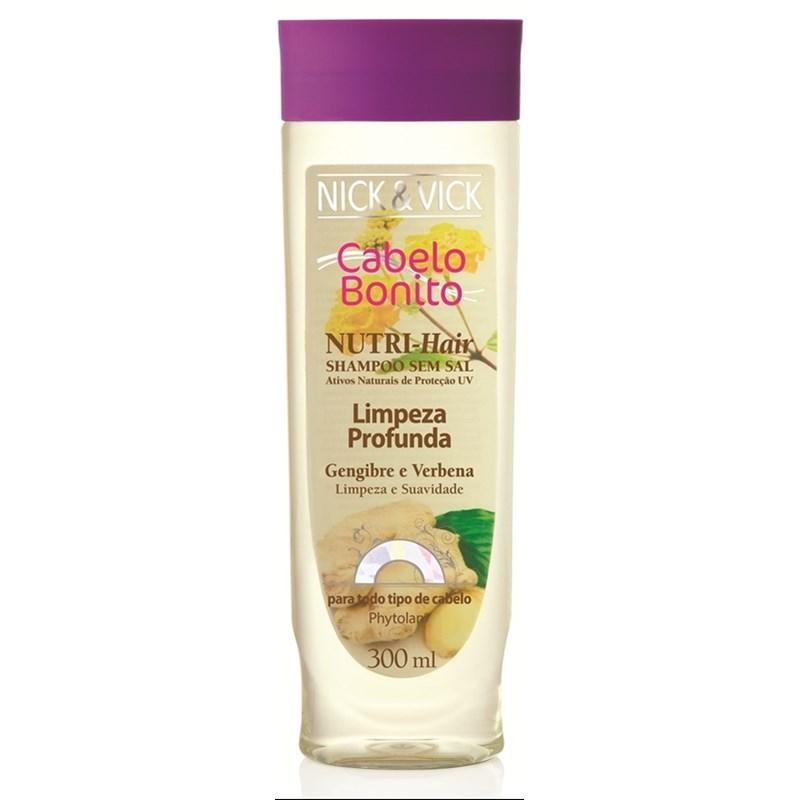 Shampoo Cabelo Bonito Nutri Hair 300 ml Limpeza Profunda