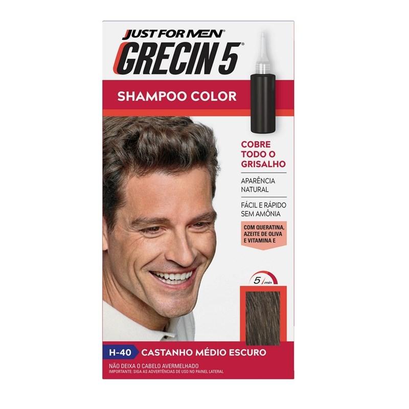 Shampoo Color Grecin 5 Castanho Médio Escuro