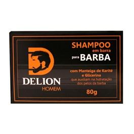 Shampoo em Barra para Barba Delion 80 gr