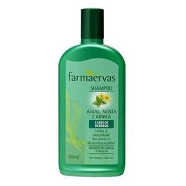 Shampoo Farmaervas 320 ml Algas, Mentas e Arnica