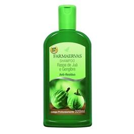 Shampoo Farmaervas 320 ml Raspa de Juá e Gengibre