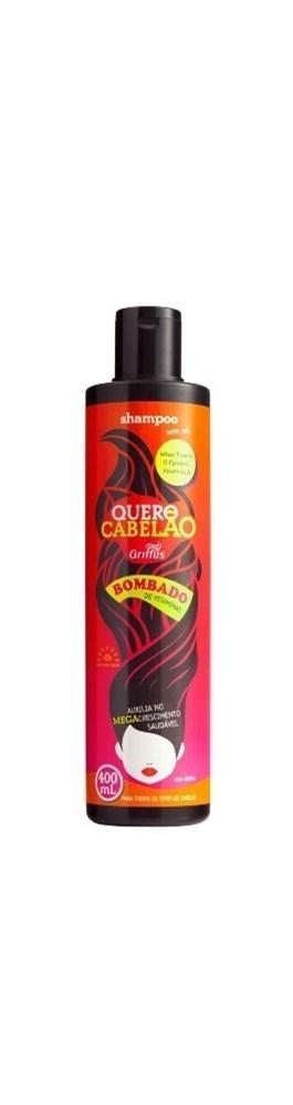 Shampoo Griffus Quero Cabelão 400 ml Bombado