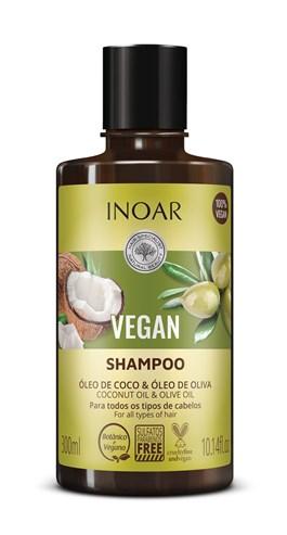 Shampoo Inoar Vegan 300 ml Óleo de Coco & Óleo de Oliva