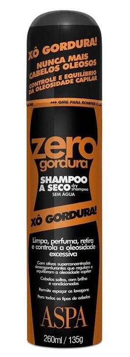 Shampoo Lavagem à Seco Aspa 260 ml Zero Gordura
