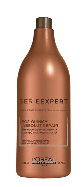 Shampoo L'oréal Professionnel Série Expert 1500 ml Absolut Repair Pós-Química