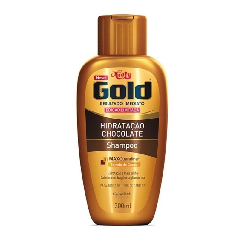 Shampoo Niely Gold 300 ml Hidratação Chocolate