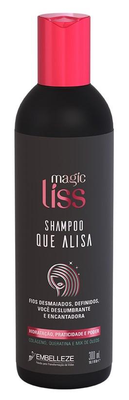 Shampoo Que Alisa Magic Liss 300 ml Hidratação, Praticidade e Poder