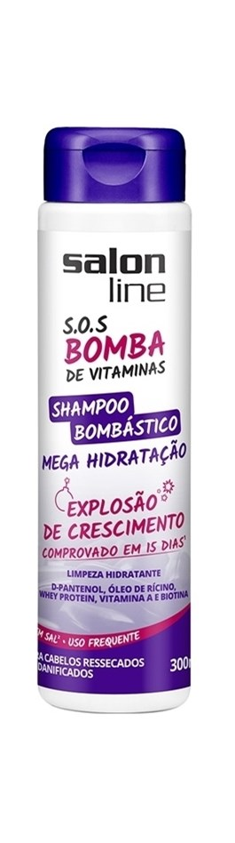 Shampoo Salon Line S.O.S Bomba 300 ml Bombástico