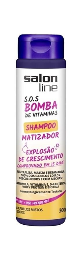 Shampoo Salon Line S.O.S Bomba Matizador 300 ml Cabelos Mistos a Oleosos