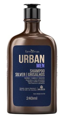 Shampoo Urban Men 240 ml Silver/ Grisalhos