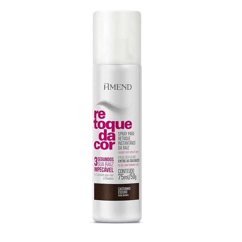 Spray Para Retoque Instantâneo da Raiz Amend 75 ml Castanho Escuro