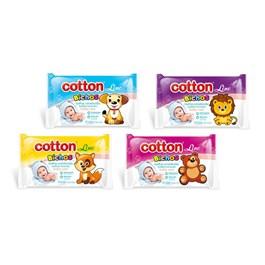 Toalhas Umedecidas Cotton Line Baby Care 48 Unidades Bichos