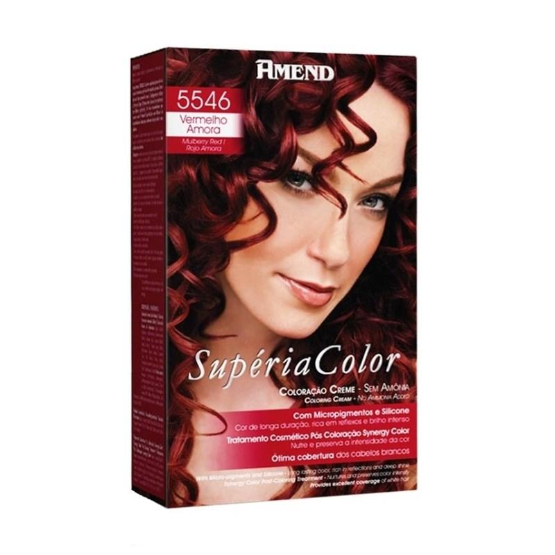 Tonalizante Amend Supéria Color Vermelho Amora 5546