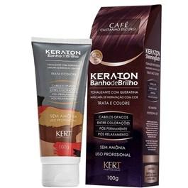 Tonalizante Keraton Banho de Brilho 100 gr Café