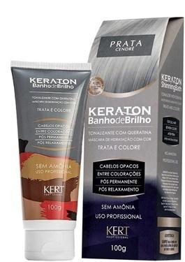 Tonalizante Keraton Banho de Brilho 100 gr Prata