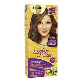 Tonalizante Salon Line Light Color Marrom Dourado 7.7