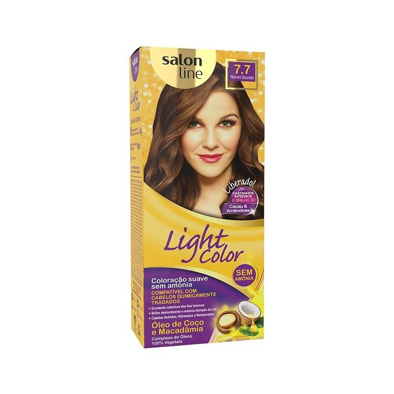 Tonalizante Salon Line Light Color Marrom Dourado 7.7