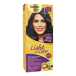 Tonalizante Salon Line Light Color Preto Azulado 1.0
