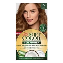 Tonalizante Wella Soft Color Marrom Dourado 77