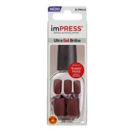 Unhas Autocolantes ImPress Ultra Gel Brilho Médias BIPM410