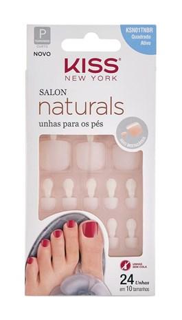 Unhas Postiças Kiss New Yourk Salon Natural para Pés KSN01TNBR
